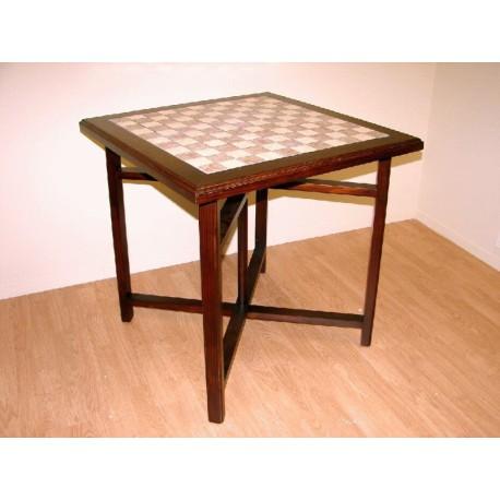 Mesa madera y ceramica Mosaico