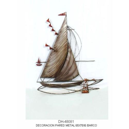 Panel decorativo metalico Barco de vela